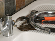 Sink unit, tap and tools